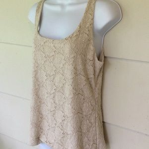 White House Black Market Lace Tank Top Size Large